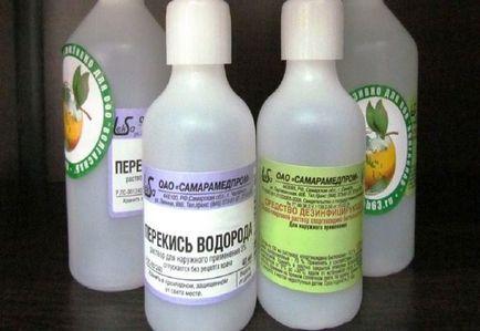 kezelje a visszér hidrogén-peroxiddal