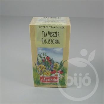 tea és visszér